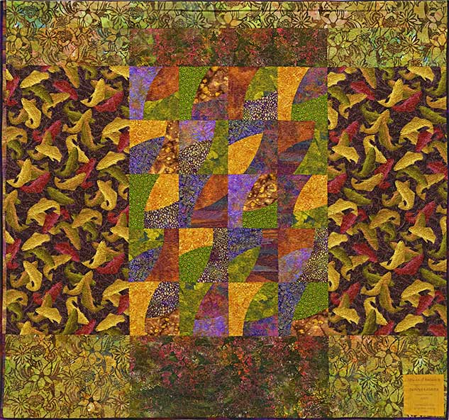 Pieced back ofSpices of Autumn by Donna Radner